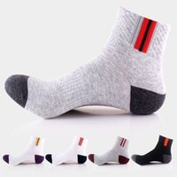 anti friction - New spring and summer cotton men s socks breathable deodorant anti friction tide male sports basketball socks
