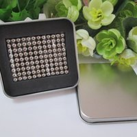 Wholesale neocube mm magnetic balls buckyballs magnets puzzle at square metal box nickel color
