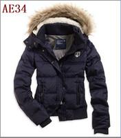 Wholesale Hot Women s AE Street Fashion Down Coat Jacket Winter parka Fur Hooded Down Hoodies Outerwear parka jackets