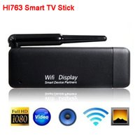 Wholesale HI763 Smart TV Stick WIFI Display Dongle Adapter Miracast DLNA AirPlay P HDMI for Android Smartphone Tablet iPhone iPad New
