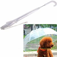 Wholesale Pet Umbrella dog Dog Umbrella Keeps Your Pet Dry and Comfortable in Rain transparent Pet Umbrella for DHL a812