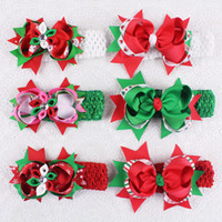 baby girl themes - Christmas theme hairpins Grosgrain party hair accesorries quot baby girl child boutique hair bows clips with headbands Y