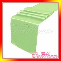 apple table runner - Brand New Lime Light Apple Green quot x108 quot Satin Table Runners Wedding Party Supply Decoration Many Colors Hot
