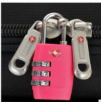 Wholesale TSA335 Resettable Digit Combination Padlock Suitcase Travel Lock TSA locks customs Luggage Padlock