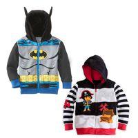 cardigan hooded - 2015 Spring Autumn New Batman Dora Girls Boys Children Cotton Hooded cardigan coat top outwear track suits C001