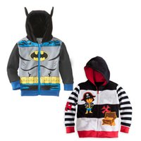 cardigan hooded - 2015 Spring New Arrivals Batman Jake and the Neverland Pirates Boy Children Cotton Hooded cardigan coat top outwear track suits C001
