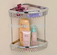 bathroom corner vanities - Wall Mounted Chrom Finish Double Bathroom Vanity Baskets