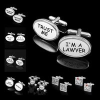 Wholesale Cufflinks Trust Me I m A Lawyer Banker Doctor Accountant I m the Boss I m Never Wrong I Love My Dad Buy Low Sell High Men s Shirt