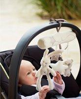 Wholesale 1Pcs Mamas papas Baby Toys hanging toy Stroller Rabbit Hanging Rattle Bunny Plush tape music hanging bed plush rabbit hang toys