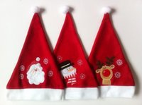 Wholesale Min order is mix order One sided Velvet W29 x H cm Christmas Hats Designs Red X mas Hat Home Decorations