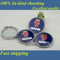Wholesale DHL MM saab WHEEL Hub Center badge LOGO Caps Fits for BJ SCS SAAB AUTO ACCESSORY