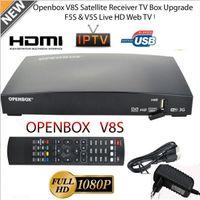 Wholesale Satellite Receiver Boxes - OPENBOX V8S Full HD 1080P Satellite Receiver Freesat TV Box EU-Plug HOT