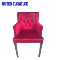 Wholesale armrest dining chair banquet chair with handrail Living room armrest chair Chic dining chair with sturdy legs