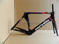 Cheap New arrival Glossy Cervelo S5 VWD carbon frameset full carbon fiber bike frame Fork Seatpost Clamp Headset size:48 51 54 56cm free shipping