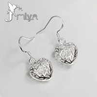 heart wedding jewelry - Recommended Hot Selling Silver Plated Earrings Creative Three dimensional Heart Earrings Jewelry Womens Charm Wedding Engagement Party