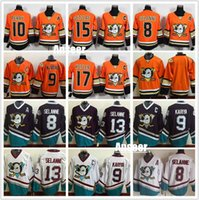 Wholesale Men Anaheim Ducks Jersey CCM Classic Throwback Orange Ryan Getzlaf Teemu Selanne Jersey Corey Perry Ryan Kesler Paul Kariy