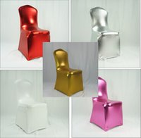 Wholesale Bronzing Elastic Spandex Chair Cover For Wedding Use Various Colors DHL Fedex