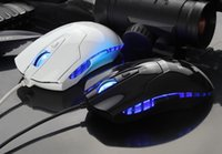 Wholesale 6D Button DPI Wired Noiseless Game Gaming Mouse Gamer Blue LED For Computer and Laptop