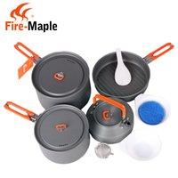 aluminium cutlery - Fire Maple Camping Pot Set Portable Cutlery Person Aluminium Alloy Cookware