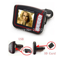 Wholesale 1 quot LCD V V Car MP3 MP4 Player Wireless FM Transmitter Remote Control Black