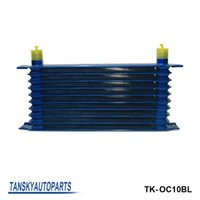 Wholesale 10 rows mm thick aluminium universal TRUST TYPE oil cooler For Universal With No Logo have in stock TK OC10BL