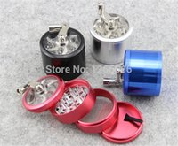 Wholesale 100pcs Hand Crank Tobacco Spice Herb Grinder Alloy Crusher