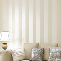 band wallpapers - 10M Simple Style Glitter Stripe Circles Wallpaper Cream Beige brown Wide Band Stripe Prepasted Wallpaper Wall Covering R312
