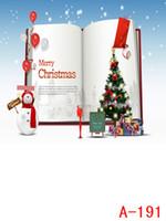 Wholesale 200cmx150cm photography Christmas snowman book christmas backdrops photography WSL