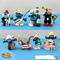 Wholesale The Smurfs Papa Smufette Anniversary Collection Figures