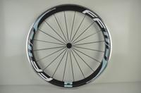aero spoke rims - New ciel color FFWD C mm clincher rim Road bicycle carbon fibre bike wheelset with alloy brake surface aero spoke Free ship