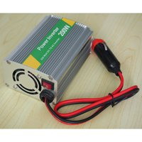 Wholesale 12V DC to AC V Adapter Car Auto Power Inverter Converter Adaptor W With USB port W car power inverter convert DC V to AC V HK