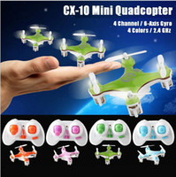 rc airplane - 2016 CX CX10 Mini G Remote Control Drone Quadcopter rc helicopter Channel GHz Axis Gyro UFO Airplane children kids toy Gift