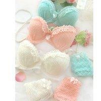 Wholesale Women Underwear Padded Up Solid Bra Short Lace Decro Push Up Lingerie Bra Set