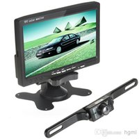 Cheap 7 Inch Color TFT LCD Car Reaview Monitor Wireless Car Rear View Reverse Camera Kit 2 Video Input CMO_389