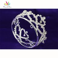 fashion hair circle - Fashion Jewelry Hair Jewelry Bridal Wedding Prom Heart Flower Girl Baby Rhinestone Full Circle Round Mini Crown CT1735