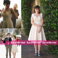 autumn restaurant - Little White Ivory Wedding Dresses For Restaurant Wedding Bridal Gowns Sale Cheap Short Knee Length Vestidos De Novia Vintage s