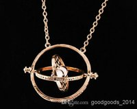 Celtic turner - European and American popular k gold plated harry potter necklace time converter turner hourglass pendant Hermione Granger a389