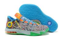 Low Cut big mens shoes - KD What the KD Mens Basketball Shoes Big Kids Cheap Kds KD6 VI Aunt Pearl Men Sneakers For Sale Size