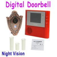 Wholesale 2GB Digital Peephole Doorbell M Night Vision Video Record Home Security Red Dropshipping