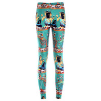 belle fitness - Women spandex pencil pants sexy Egypt belle patterned d digital printed leggings women fitness leggings