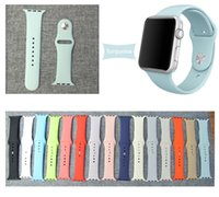 bag watch bands - 38mm OPP Bags Fashion Watch Strap For Apple Watch Sport Version mm Band For Iwatch Strap with Adapter Connecto