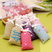 Wholesale 12g aromatic air freshener scented sachets pillow shape natural fragrance aroma aromatic bag for wardrobe car closet home