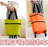 Cheap Travel shopping bag folding trailer drivers to pull wheeled bag dual-use package wagon cart bags tugboat