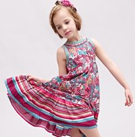boutique clothes - Princess Girls Dresses Boutique Baby Girl Dress Summer European Amercan Brand wlmonsoon Kids Clothes Children Floral Vest Dressy I2937