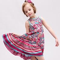 boutique clothing - Princess Girls Dresses Boutique Baby Girl Dress Summer European Amercan Brand wlmonsoon Kids Clothes Children Floral Vest Dressy I2937