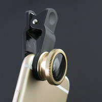 Cheap Universal Gold Wide Angle LENS, Fish Eye Camera Lens,Clear Macro Cell Phone Lens For Iphone 6 Plus For Samsung