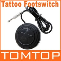 Wholesale Round Star Tattoo Machine Foot Pedal Footswitch Power Supply Dropshipping