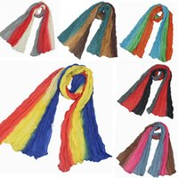 Wholesale Cheap Children Scarfs - New Three Colors Gradient Scarves for Children Autumn Spring Fashion Cheap Shawl Young Girls Scarf High Quality 16 Color Free Shipping