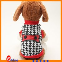 Wholesale Pet products for animalls Baberry Plaid Design Pet Supplies Dog Clothes Puppy vest High Grade T shirt clothing for dogs