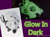 Cheap Wholesale Glow In Dark Solid Colored Silicon Mask Party Gas Mask For Water Pipe MASK ONLY For Hookah Vaporizer Filter Smoking Pipe
